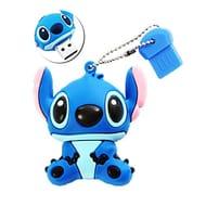 Sunworld Cute Stitch 16GB USB 2.0 Memory Stick Flash Drive with Keychain Blue