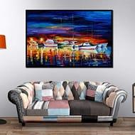 Frameless Computer Inkjet Landscape Oil Painting