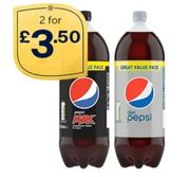 2 X 3L Diet Pepsi and Pepsi Max at Iceland - £3.50