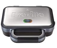 Breville VST041 Deep Fill Sandwich Toaster, Stainless Steel - Silver £24.99