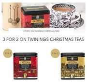 3 for 2 on Twinings CHRISTMAS TEAS with CODE