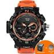 SMAEL Military 50m Waterproof Wristwatch LED Quartz Clock Sport Men Watch
