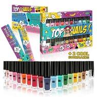 Set of 20 Nail Polish Varnish 20 Different Colours Luxury Box 2 Bookmarks UK