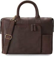 LEABAGS Pittsburgh Genuine Buffalo Leather Handbag