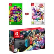 Nintendo Switch Neon & Mario Kart 8 Deluxe Bundle & Just Dance 6%off