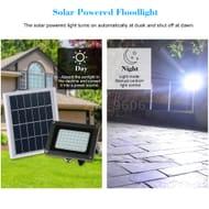 Solar Powered Floodlight 54 LED Solar Light IP65 Security for Home Garden
