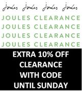 MORE OFF with Joules Clearance & EVEN MORE OFF AGAIN with Code!