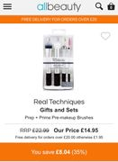 Real Techniques Prep and Prime Gift Set