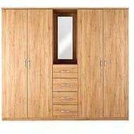 Peru 4-Door, 4-Drawer Combi Fitment Wardrobe Various Colours