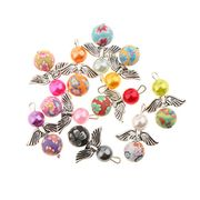 MagiDeal 10 Pieces Mixed Guardian Angel Wings Drop/Heart Pendants FREE DELIVERY
