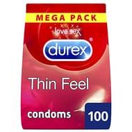 HALF PRICE - Durex Thin Feel Condoms, Pack of 100