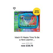 Vtech Pj Masks Learning Tablet WAS £25 Now £18.75