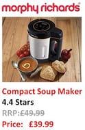 LOVE SOUP? SAVE £10. Morphy Richards Compact Soup Maker, 1L