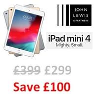 SAVE £100. Apple iPad Mini 4, 128GB