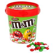 3X M&M's Chocolate Christmas Colours Bucket 500G