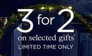 3 for 2 on Selected Christmas Gifts