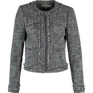MICHAEL KORS Black & White Boucle Jacket