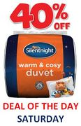 40% off on SATURDAY! Silentnight Warm & Cosy 15 Tog Duvets - King Double Single