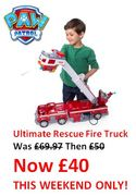 IF YOU'RE QUICK....You Can Get PAW Patrol Ultimate Rescue Fire Truck for £40!