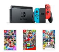 NINTENDO Switch, Mario Kart 8, Super Mario Odyssey & Super Smash Bros Bundle