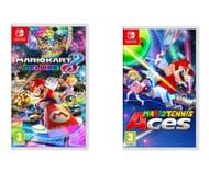 NINTENDO Mario Kart 8 Deluxe & Tennis Aces Bundle