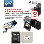 SanDisk High Endurance Video 32GB microSDHC Card for Home Security Cameras