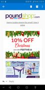 10% off Christmas Items - Poundshop