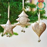 Valery Madelyn 6Pcs 11/12cm Sparkling Winter Christmas Tree Decoration