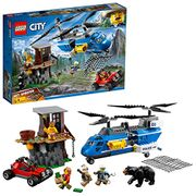 LEGO 60173 City Police Mountain Arrest Building Set, Buggy and Helicopter Toy