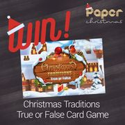 Win a Christmas Traditions True or False Card Game