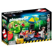 Playmobil Hot Dog Stand with Slimer