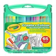 Crayola 04-0379-E-000 Mini Washable Marker Sketch and Colour Case