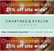 25% OFF SITEWIDE at Crabtree & Evelyn + FREE DELIVERY for ORDERS over £30