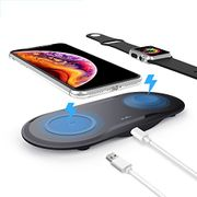 50% off 2 in 1 Wireless Charging Pad for iPhone and Apple Watch Only £14.99)