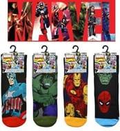 4 Pairs of Mens Official MARVEL AVENGERS Character Socks