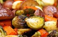 M & S Christmas Veg Sprouts Carrots Potatoes Parsnips 40p