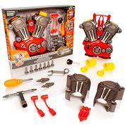 Take Apart Buildable Car Engine Tool Kit - Lights & Sounds Construction Toy