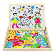 £7.99 for Wooden Jigsaw Puzzles Drawing Writing Board Christmas Gift