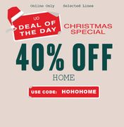 40% off HOME: Urban Outfitters
