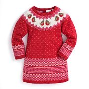 Girls' Cashmere Mix Fair Isle Robin Dress Only £26