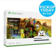 Microsoft Xbox One S 1TB Console & Minecraft Creators Bundle White Only £199.99
