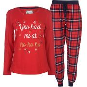 The Spirit of Christmas Fleecy PJ Set Ladies