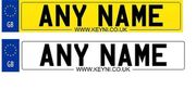 Personalised Number Plate Stickers for Kids Ride Ons