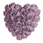 Wilko Heart Shaped Rose Cushion Lilac