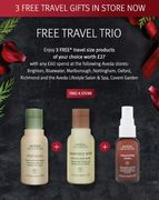 FREE Travel Gifts worth £27 in Store Now When You Spend £60