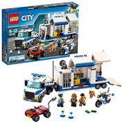 LEGO City Police Mobile Command Center Building Set, Toy Truck and Motorbike,