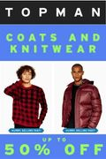TOPMAN - up to 50% off Knitwear & Coats