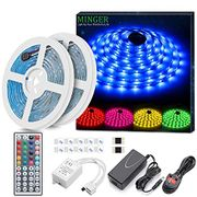 40%Off 2 Pack 5 Meters Waterproof RGB LED Strip Light with Remote Control