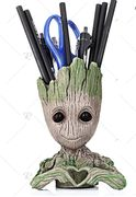 Creative Tree Man Flower Pot Pen Holder Doll Model Desk Ornament Gift Toy £2.30