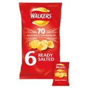 Offer - Walkers Ready Salted Crisps 6 X 25g